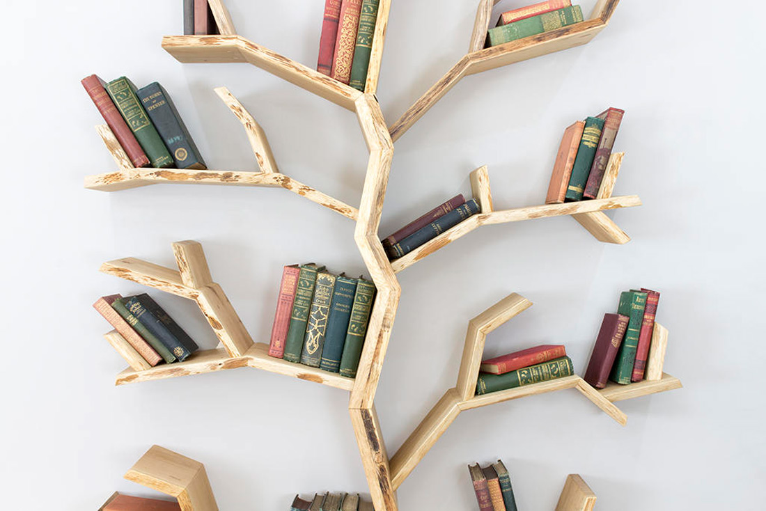 Elm Tree Bookshelf - The Green Head