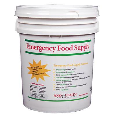emergency food kit bucket 275 servings 20 year shelf. Black Bedroom Furniture Sets. Home Design Ideas