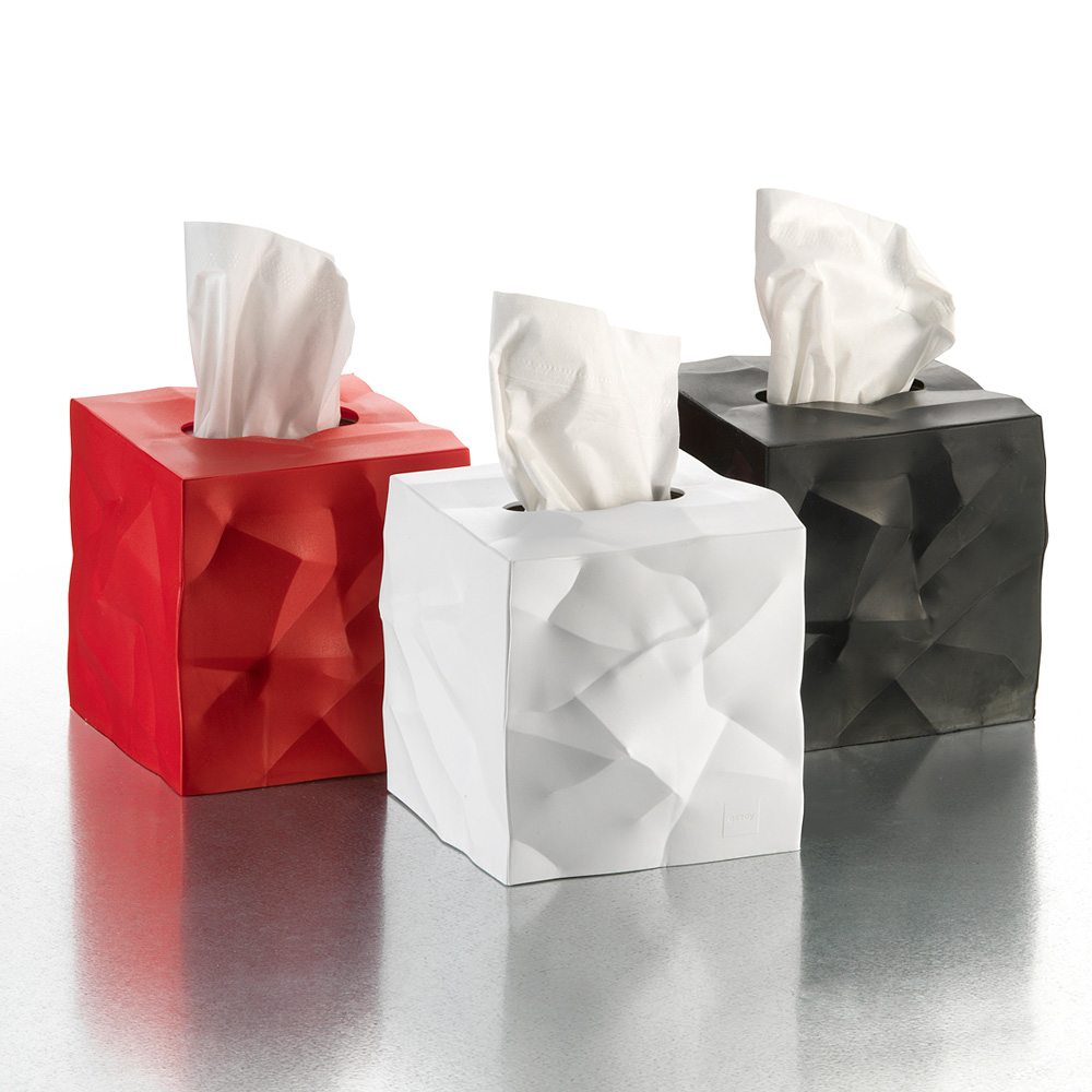 Essey Wipy Crumpled Tissue Box Cover The Green Head
