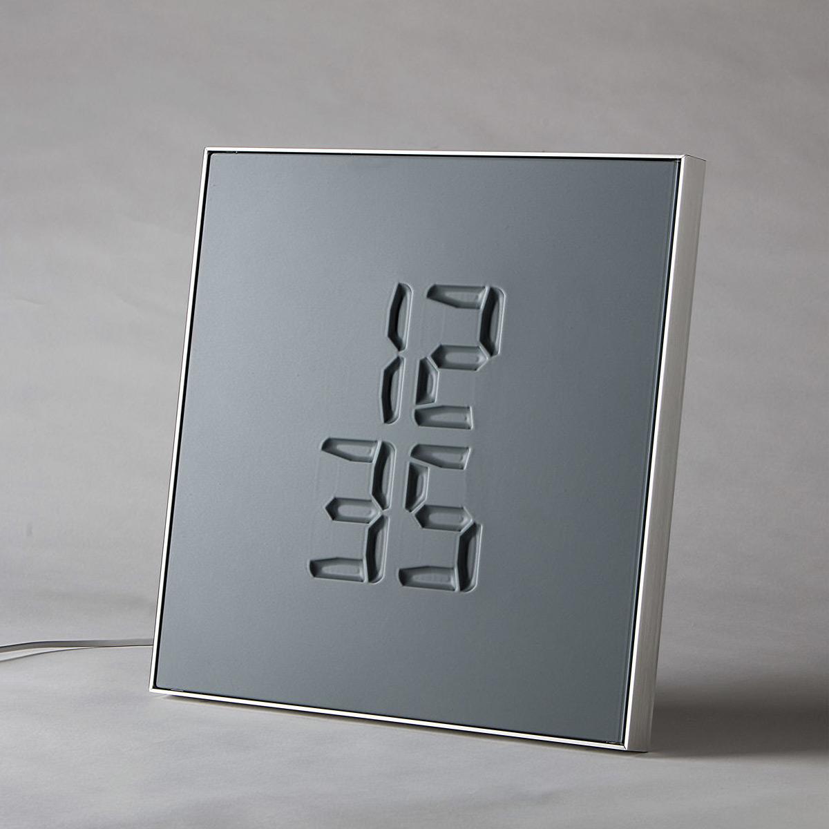Etch Clock Minimalist Transforming Digital Clock Sculpture