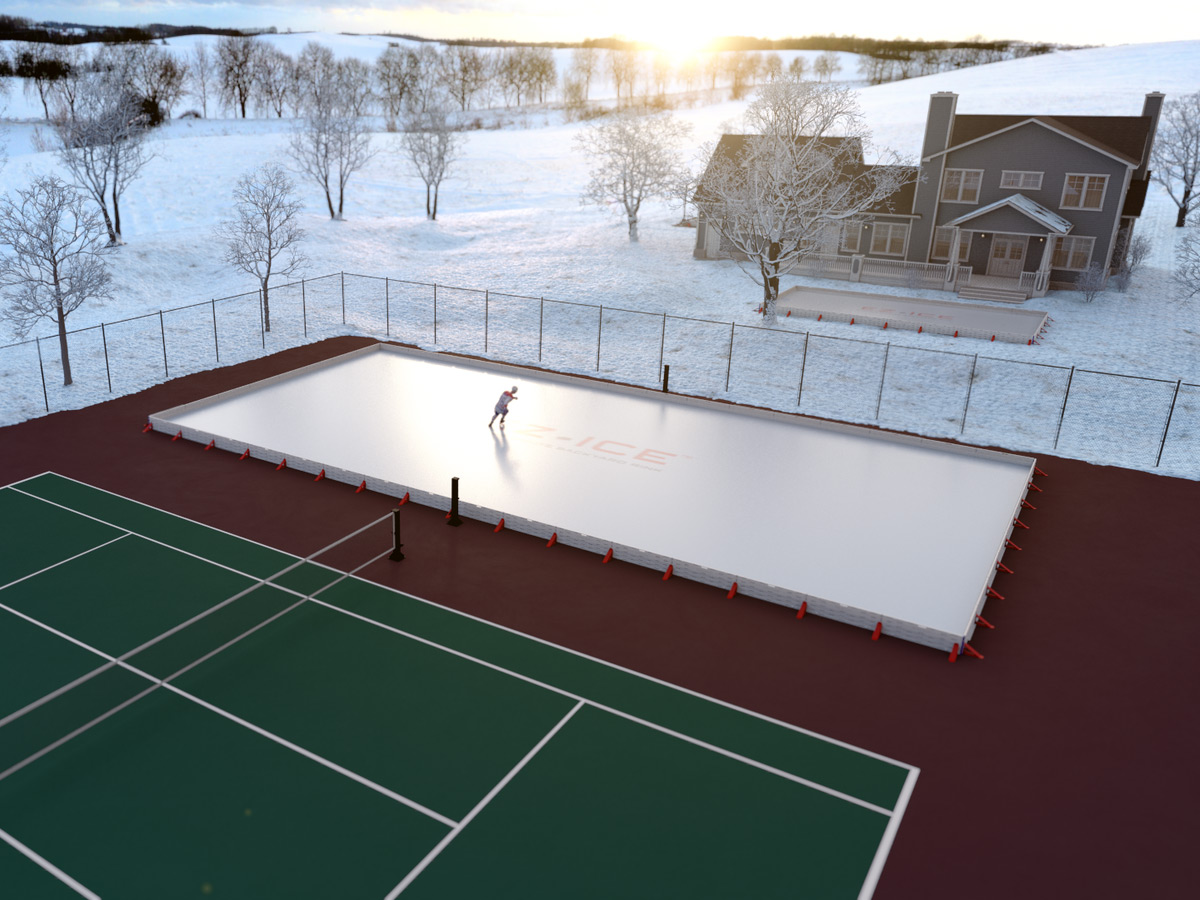 EZ ICE   60 Minute Backyard Ice Rink