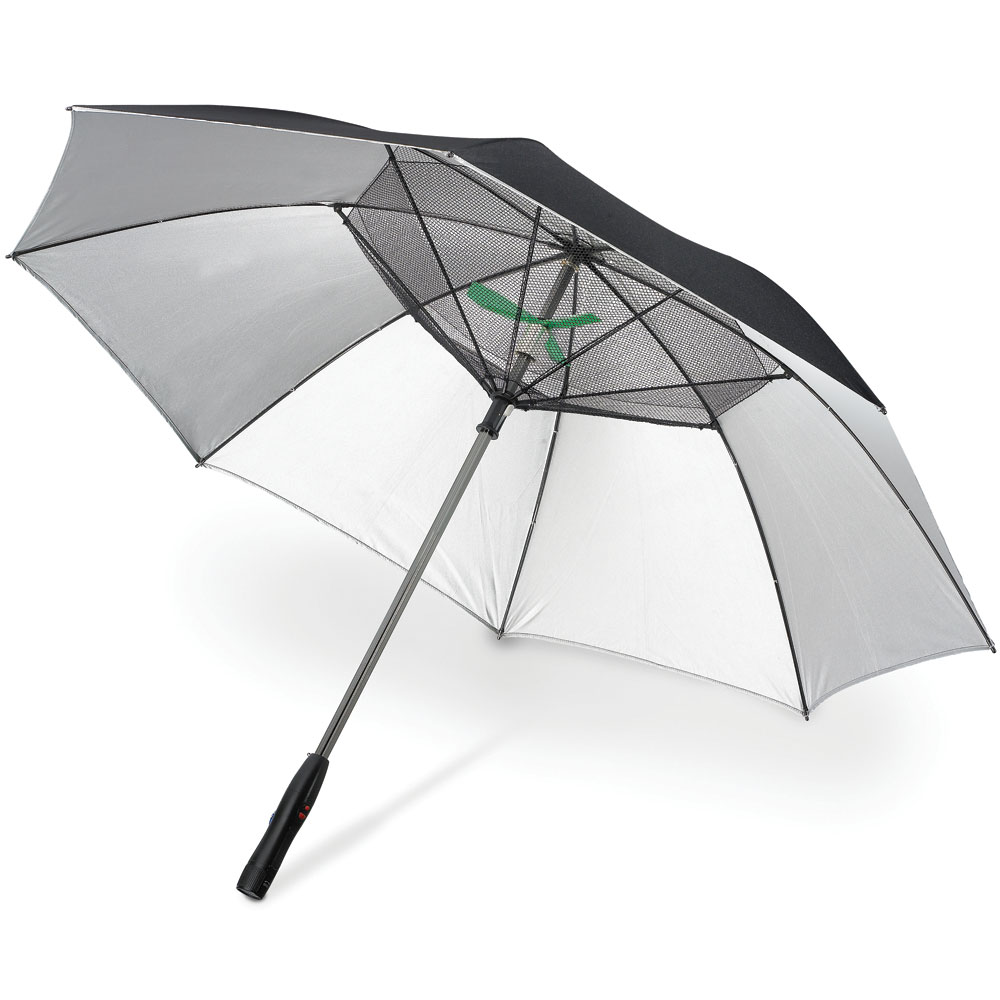 Fanbrella Uv Reflecting Umbrella With Motorized Fan