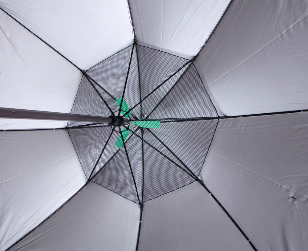 Wonderful Fanbrella   UV Reflecting Umbrella With Motorized Fan