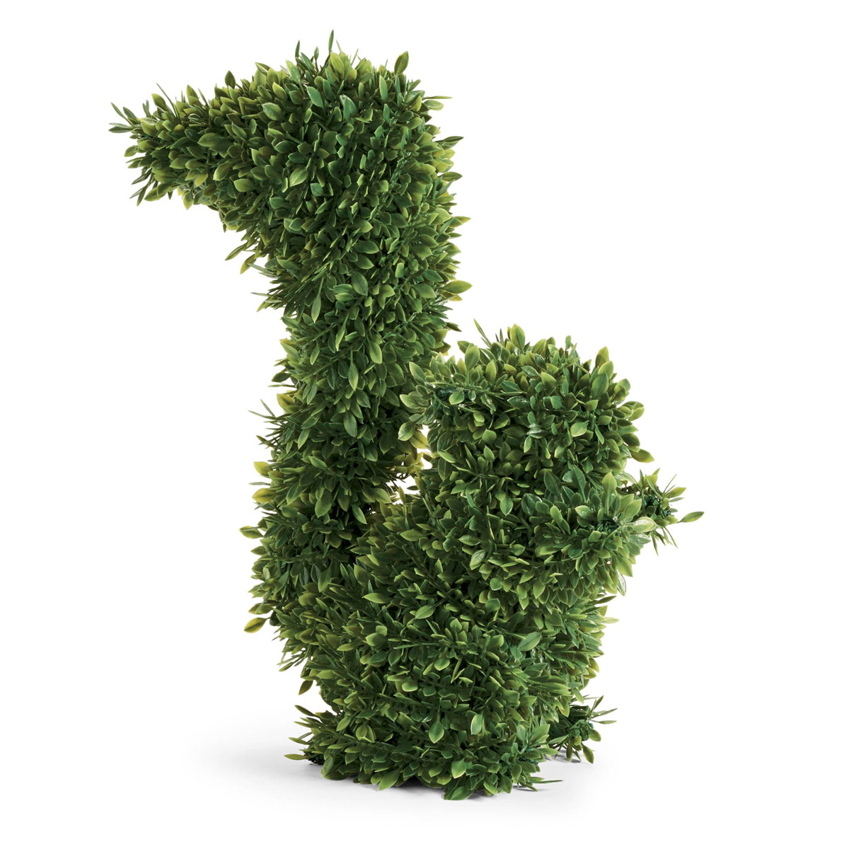 Faux Boxwood Squirrels
