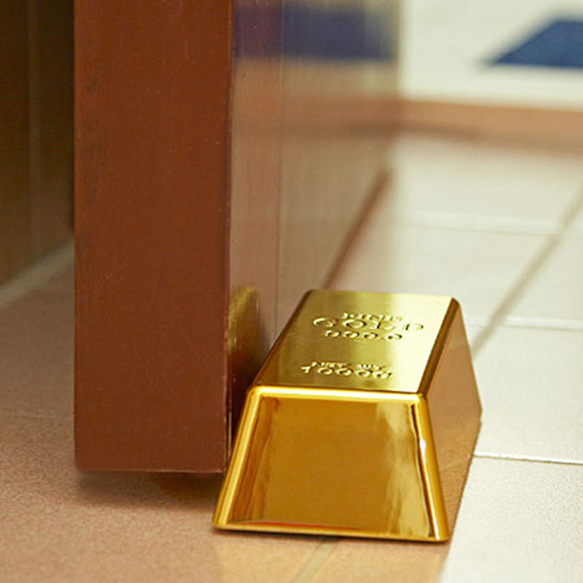 Faux Gold Bar Doorstop Paperweight