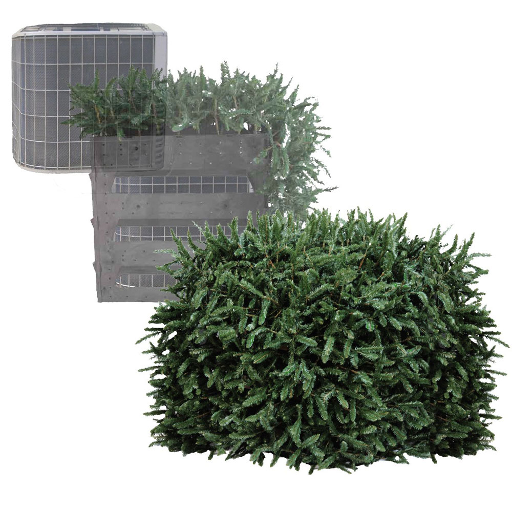 faux shrub utility cover - the green head