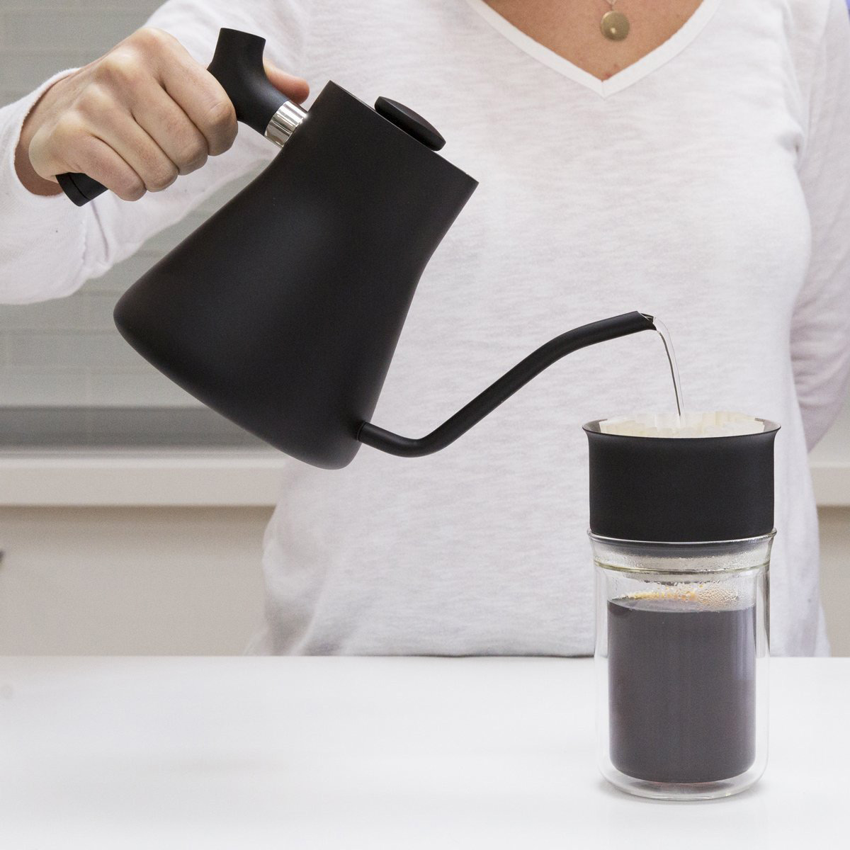 Fellow Stagg Pour Over Kettle With Thermometer The