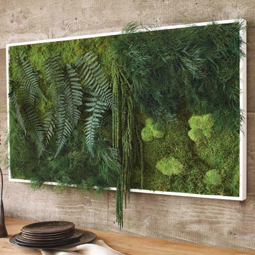 Fern and moss wall art the green head for Ideas para hacer un jardin en casa