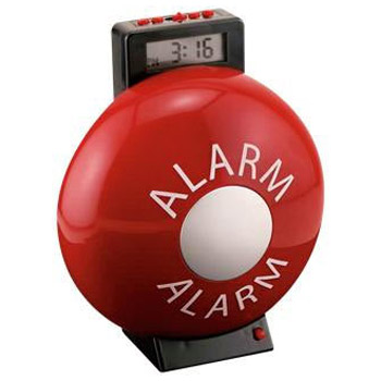 The Fire Bell Alarm Clock Is Loud The Green Head