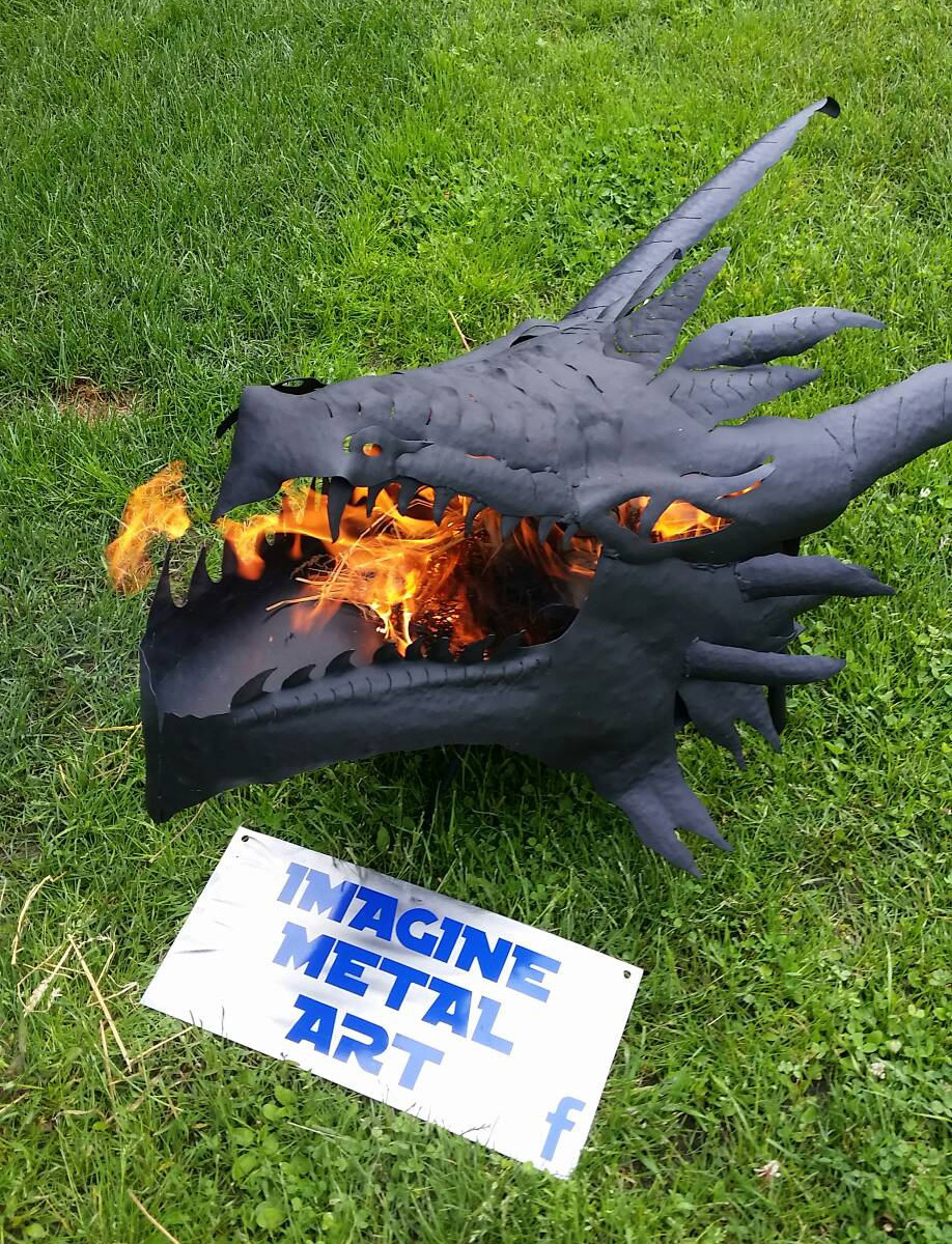 Fire-Breathing Dragon Fire Pit - Fire-Breathing Dragon Fire Pit - TheGreenHead.com