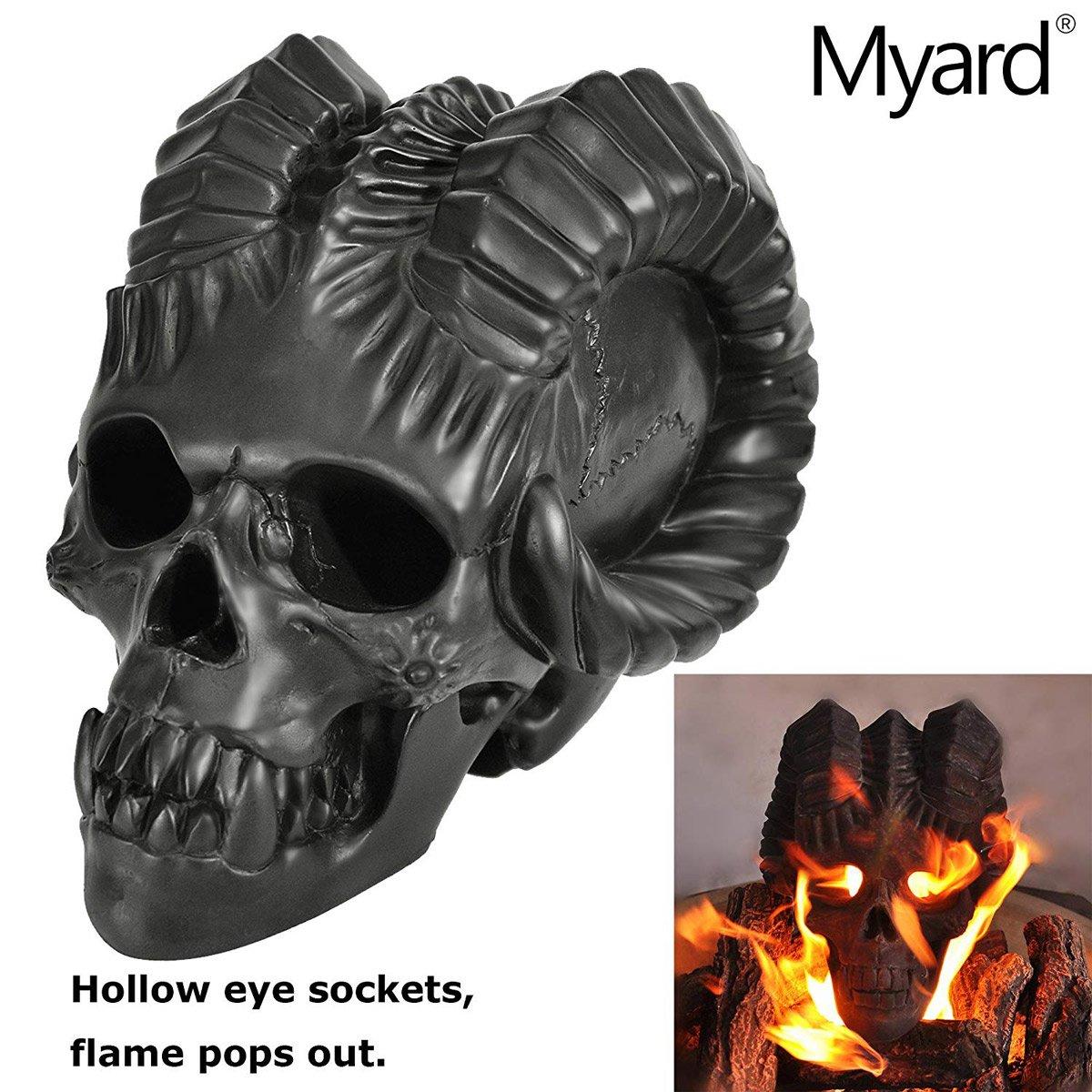 fire pit demon skull the green head