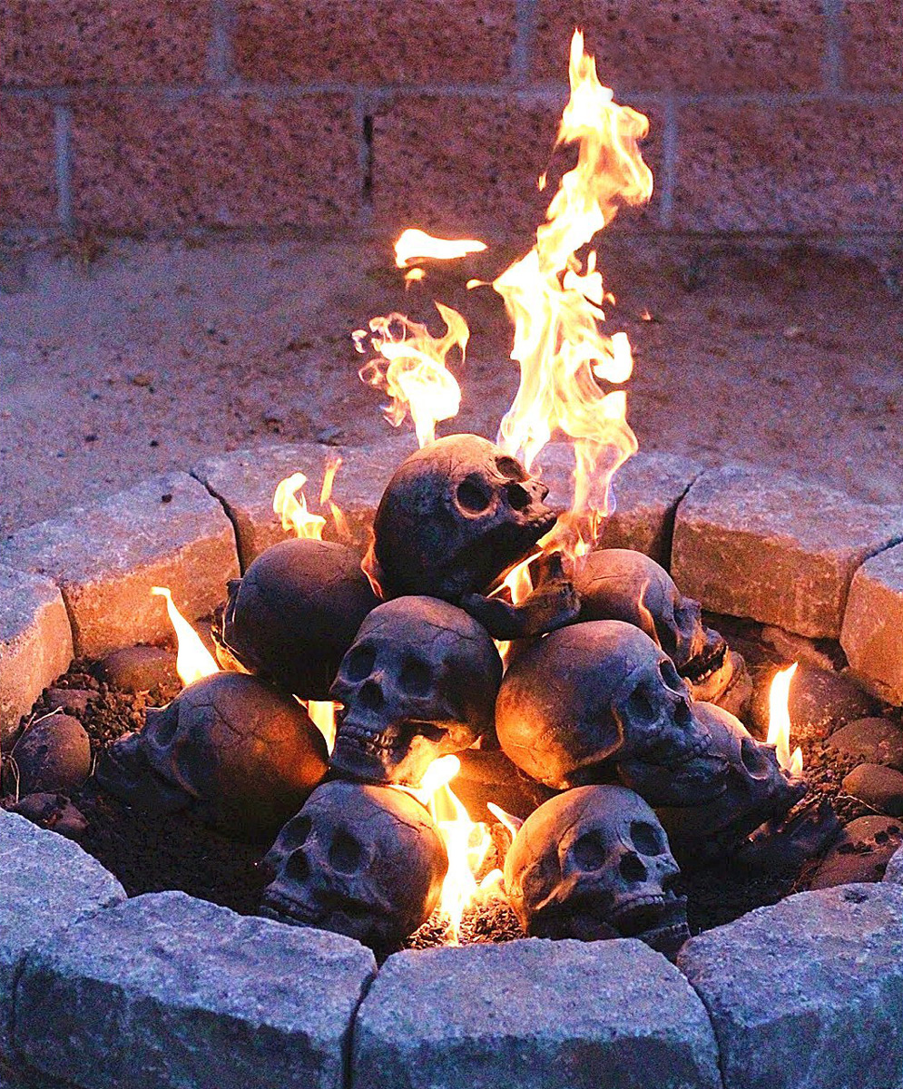 Fire Pit Skull Logs The Green Head