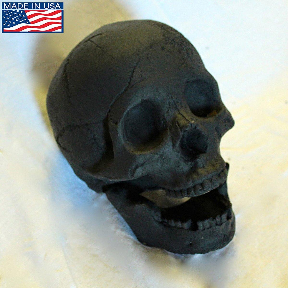 Fire Brick Ceramic Skull Aged Gray