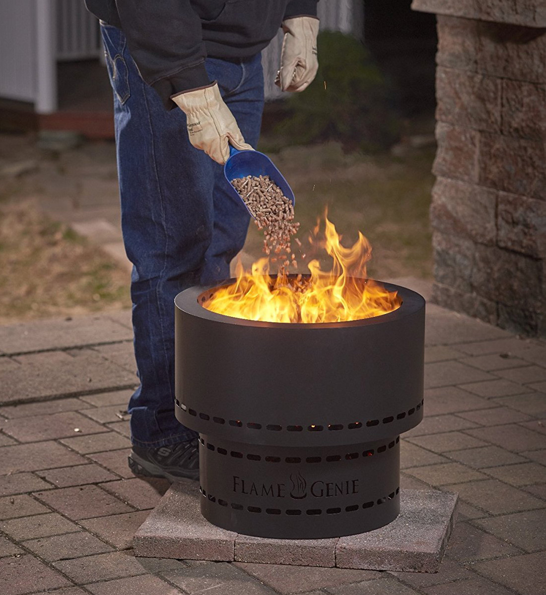 Flame Genie Wood Pellet Smokeless Fire Pit