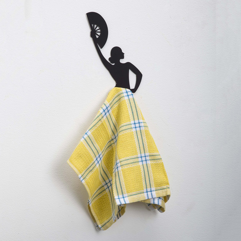 Dishcloth Hanger: Flamenco Dancer Kitchen Towel Hanger