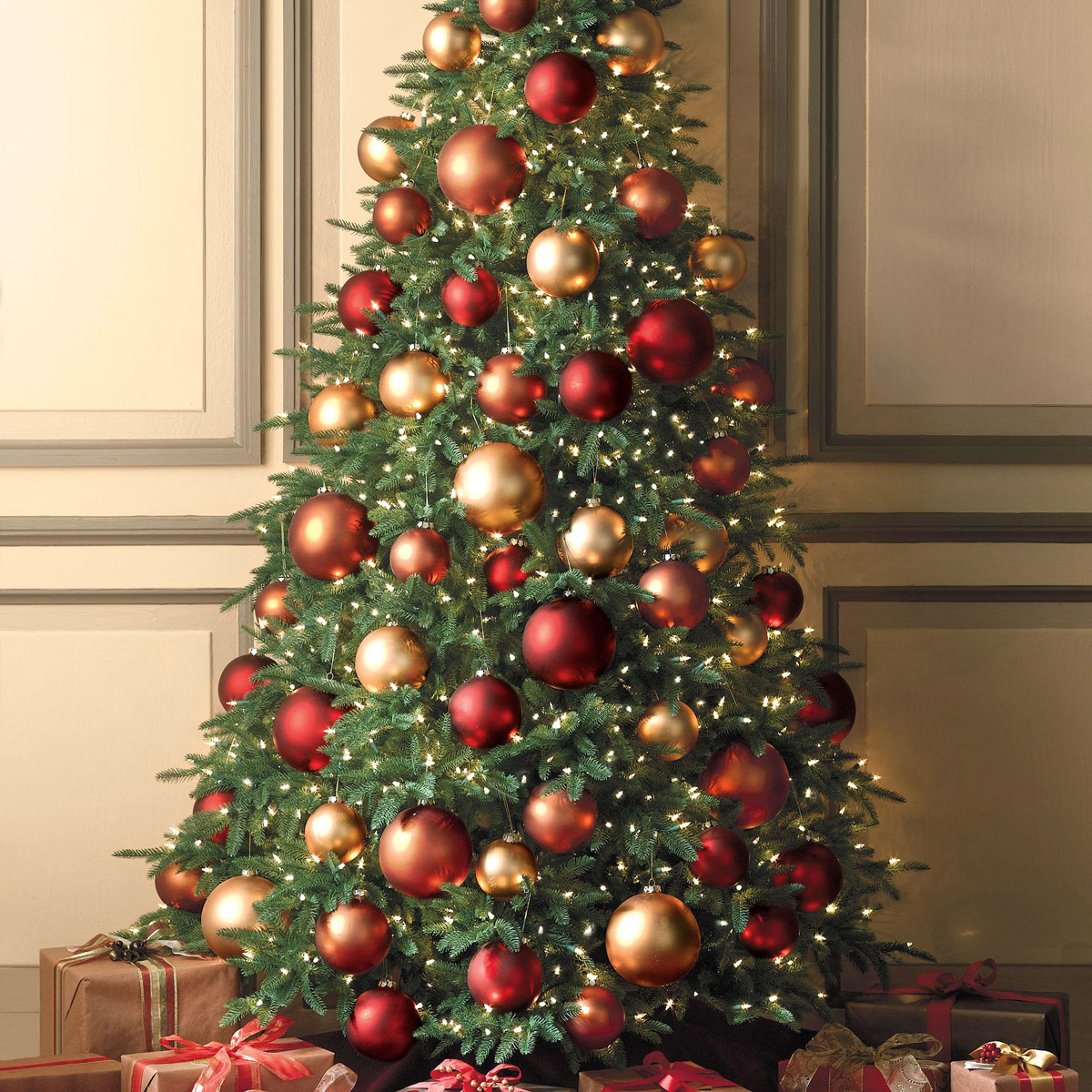 Flat back christmas tree the green head - Arbol de navidad decorado ...
