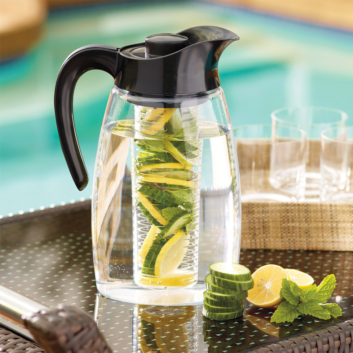Flavor It Infusion Pitcher 3 In 1 Beverage System The