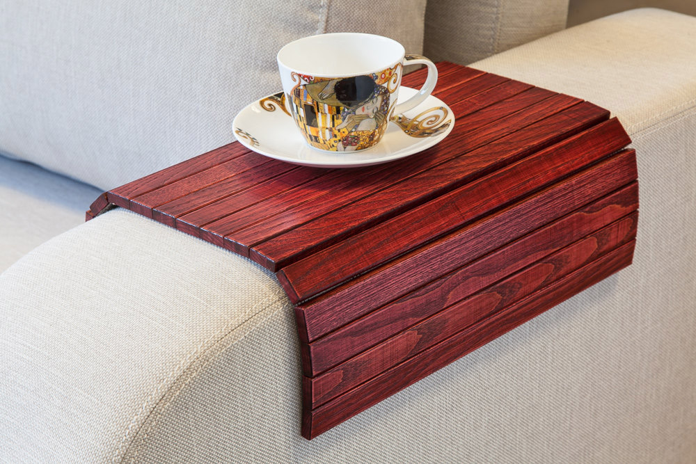 ... Flexible Wooden Sofa Armrest Tray Table The Green Head