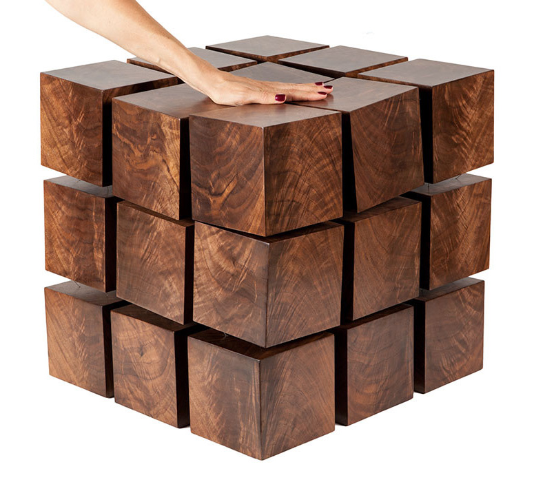 Charmant Float   Magnetized Levitating Wooden Cubes Table