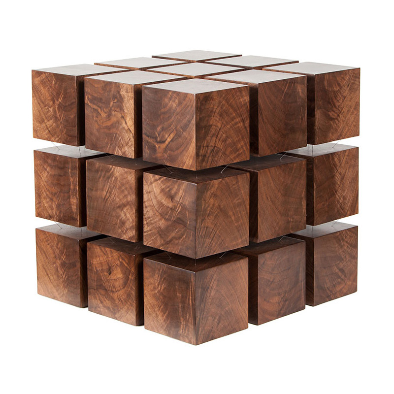 Float   Magnetized Levitating Wooden Cubes Table