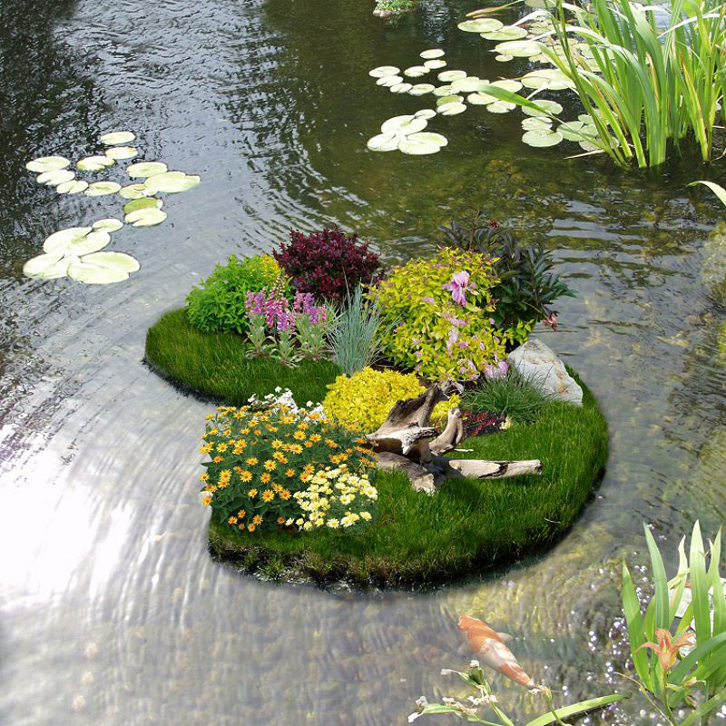 Floating flower gardens the green head Small flower gardens