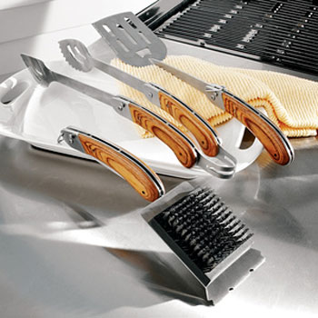Folding grill tools collapse for compact storage the - Grill utensil storage ideas ...