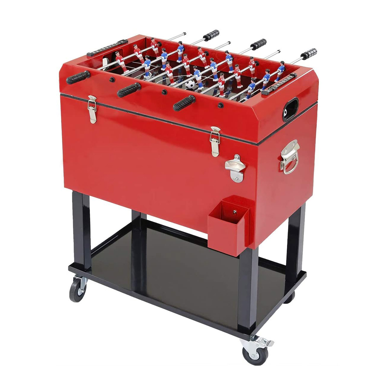 Foosball Table Rolling Ice Chest Cooler