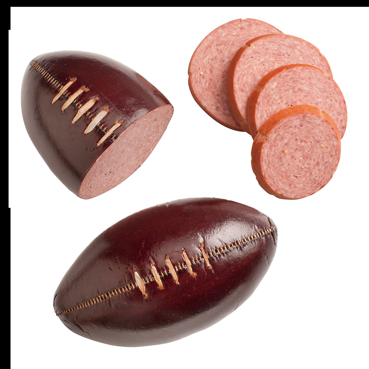 Football Summer Sausage Complete With Lacing And