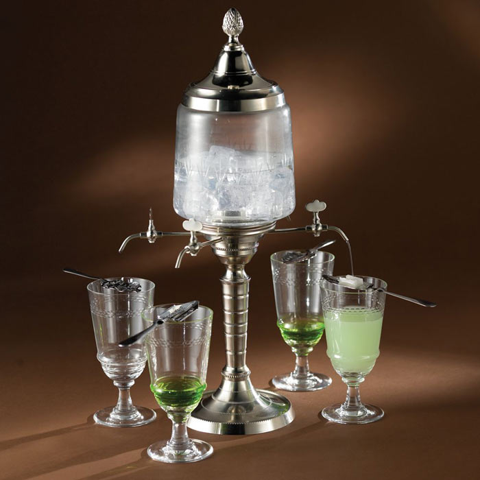 authentic french absinthe fountain set the green head. Black Bedroom Furniture Sets. Home Design Ideas