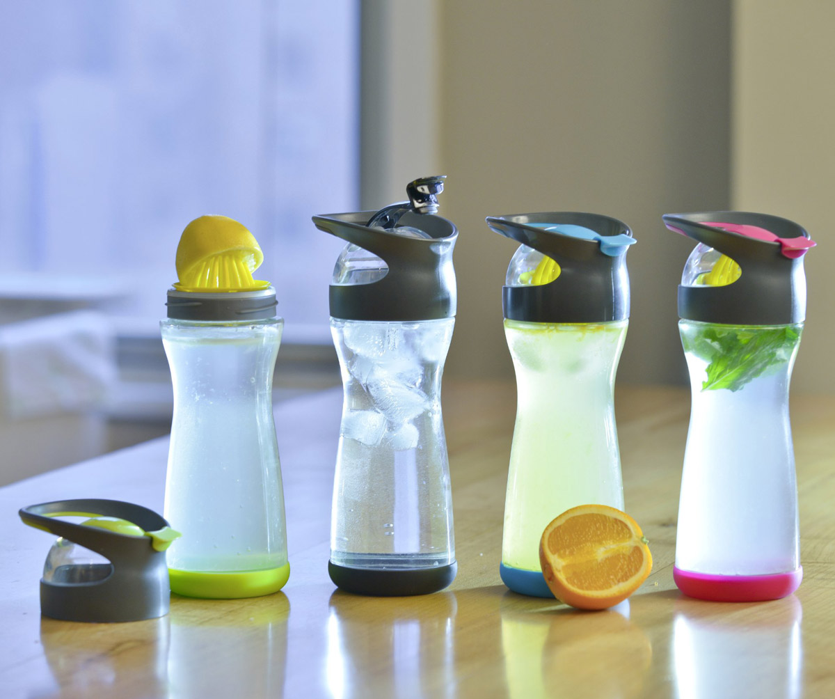 full circle wherever lemon water on the go glass bottle the green head. Black Bedroom Furniture Sets. Home Design Ideas