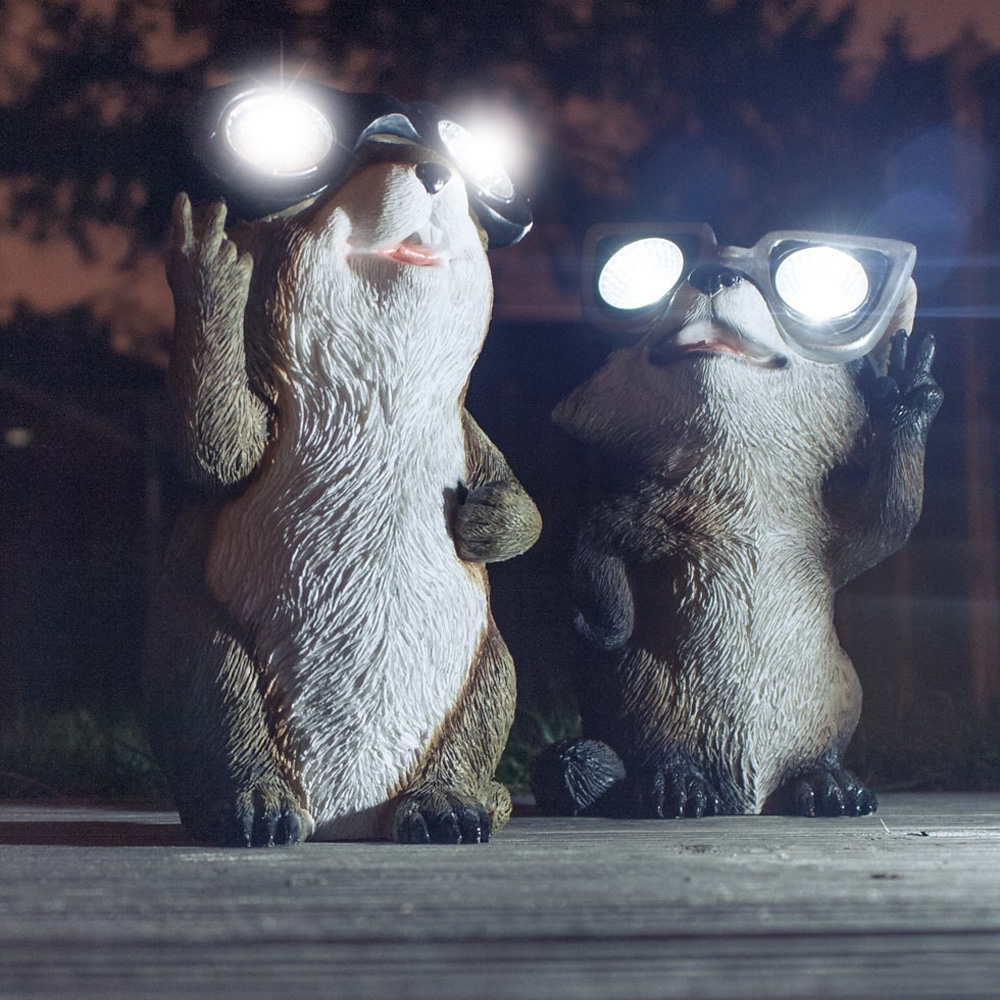 garden critter solar lights the green head