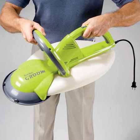garden groom pro safety electric hedge trimmer garden ftempo. Black Bedroom Furniture Sets. Home Design Ideas
