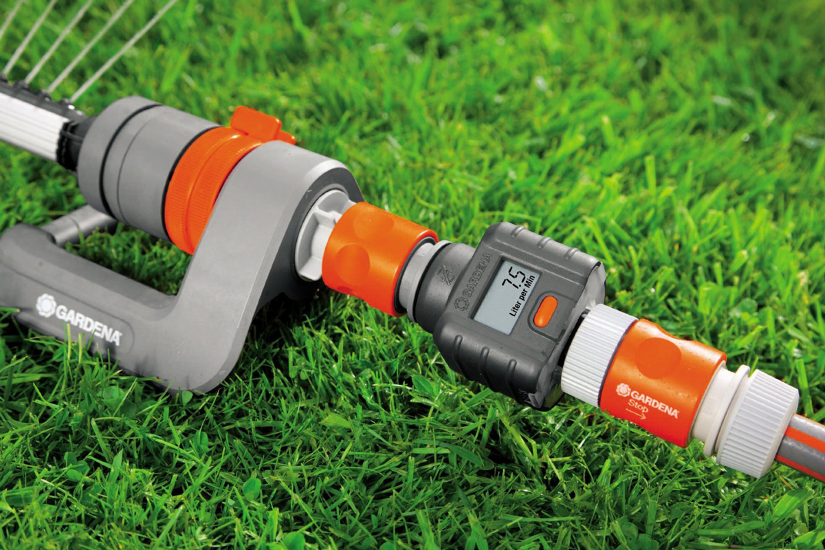 Gardena Garden Hose Water Flow Meter The Green Head