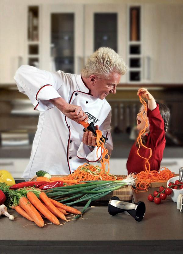 Gefu Spirelli Spiral Vegetable Cutter   Create Endless Julienne Strips And  Raw Pasta