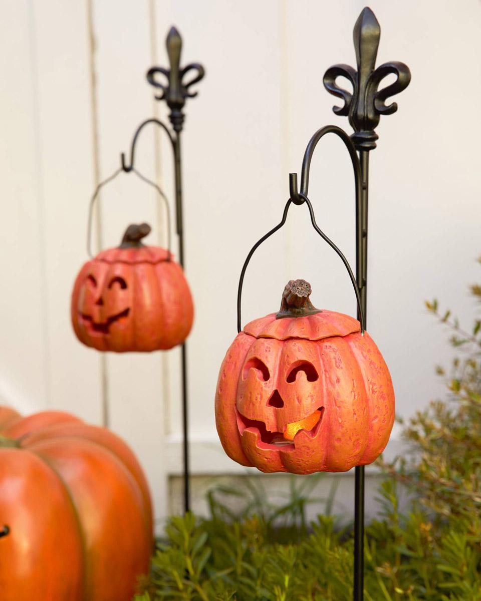 Ghost And Pumpkin Halloween Pathway Lanterns