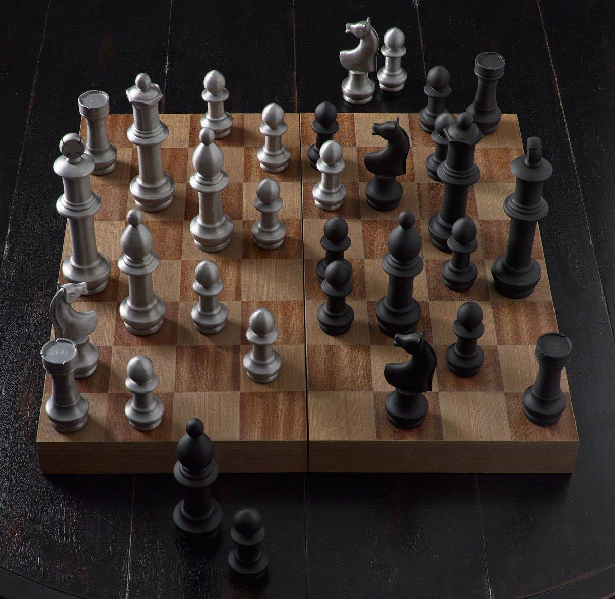 Giant Aluminum Chess Set The Green Head