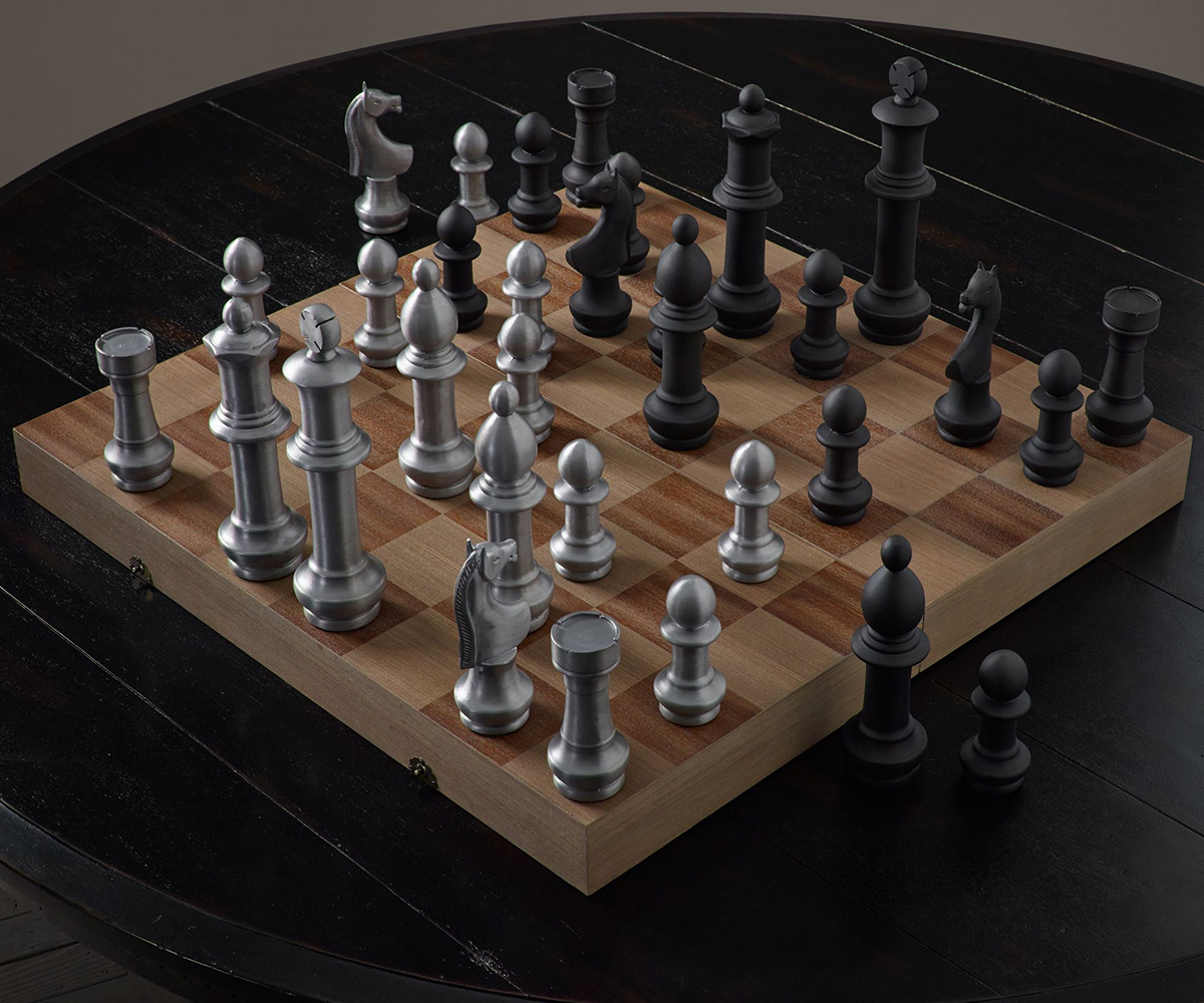 Giant Aluminum Chess Set