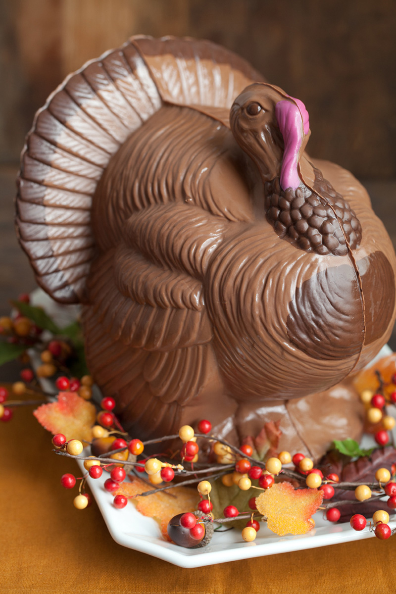 Giant Chocolate Turkey Thanksgiving Centerpiece The
