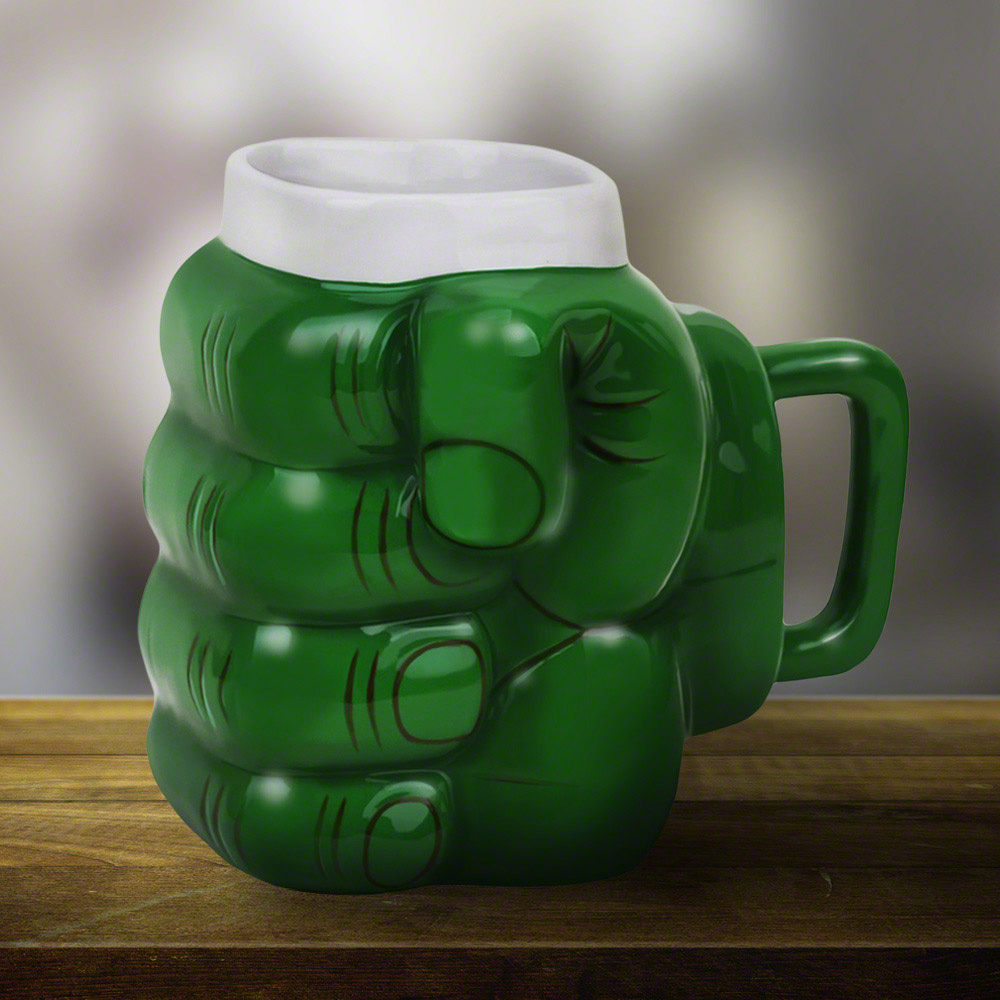 Giant Green Monster Fist Coffee Mug The Green Head