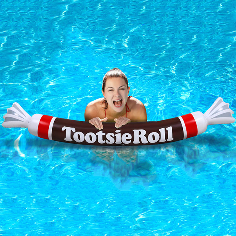 Cool Shaped Pools: Giant Inflatable Tootsie Roll Pool Noodle