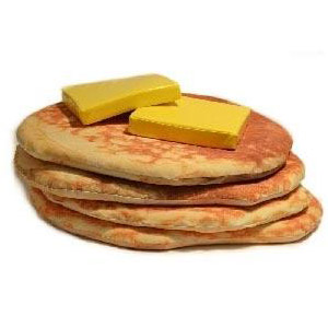 Giant Pancake Floor Pillows