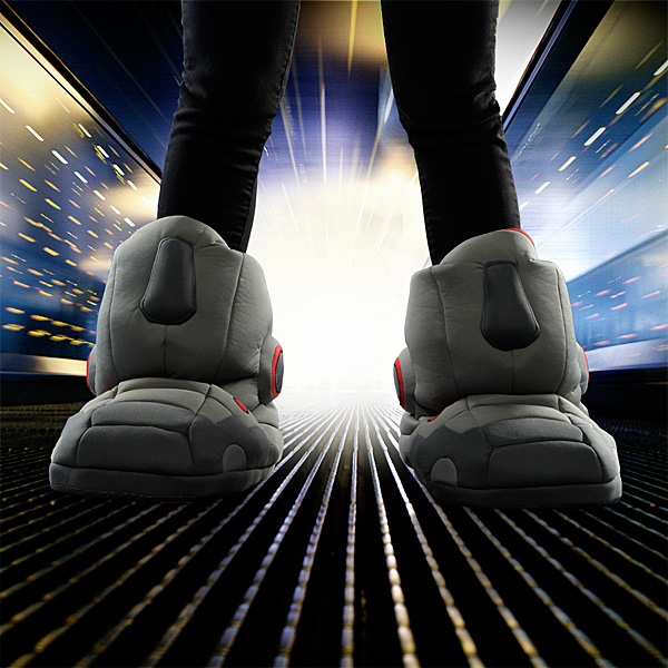 9200aa095ed9 Giant Robot Slippers With Sound