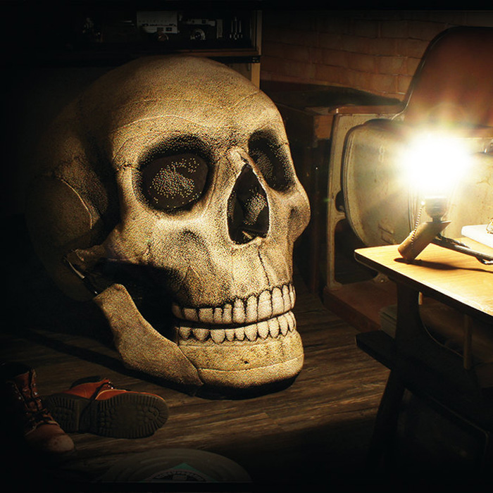 Relax The Back Lift Chair Giant Skull Chair With Movable Jaw - The Green Head