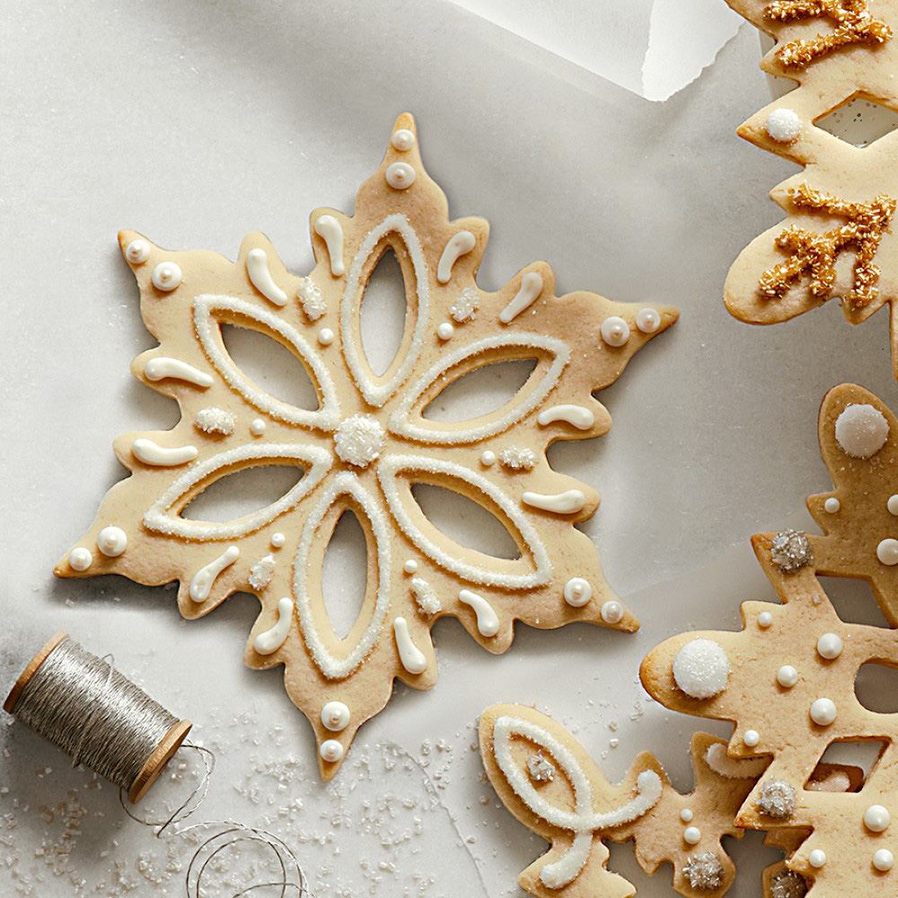 Giant Snowflake Stainless-Steel Cookie Cutters - The Green ...