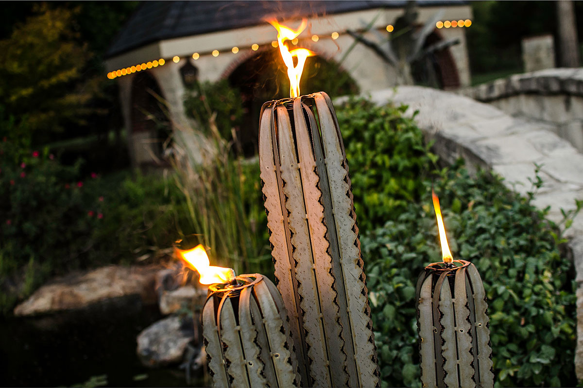 Giant Steel Saguaro Cactus Torches The Green Head