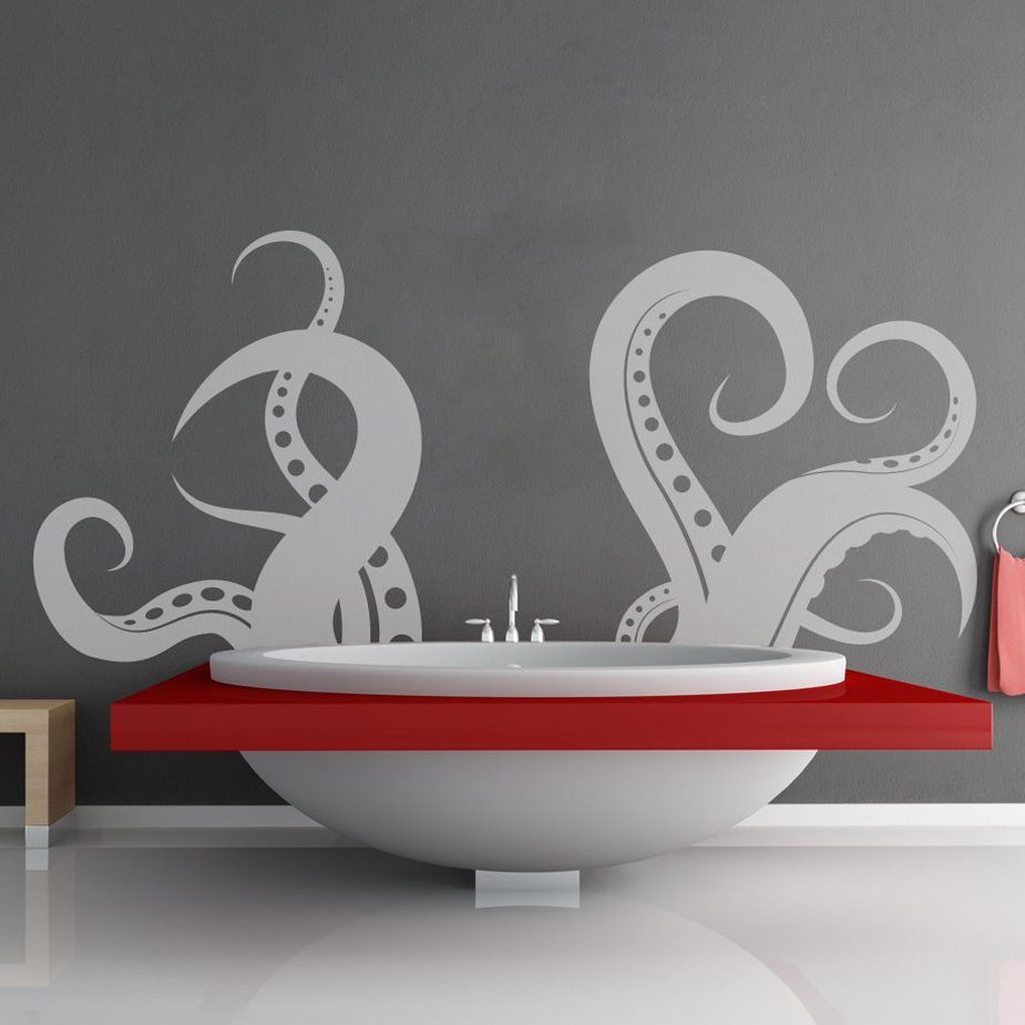 giant tentacle wall decal the green head. Black Bedroom Furniture Sets. Home Design Ideas
