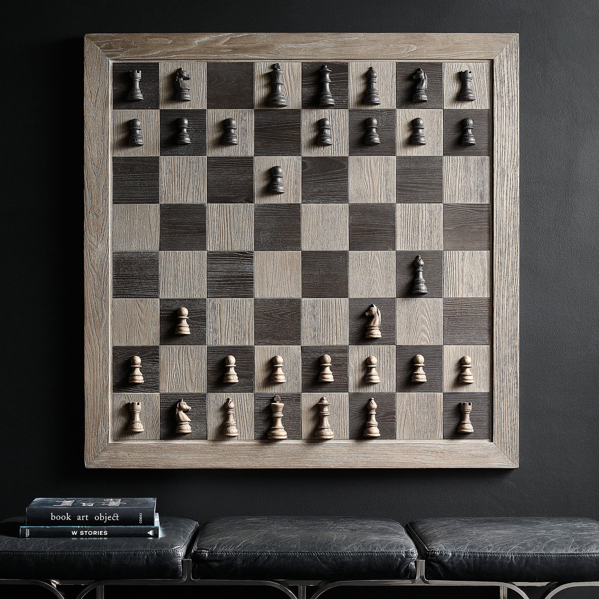 Giant Wall Mounted Vertical Chess Set
