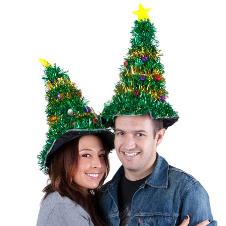 gigantic light up christmas tree hat