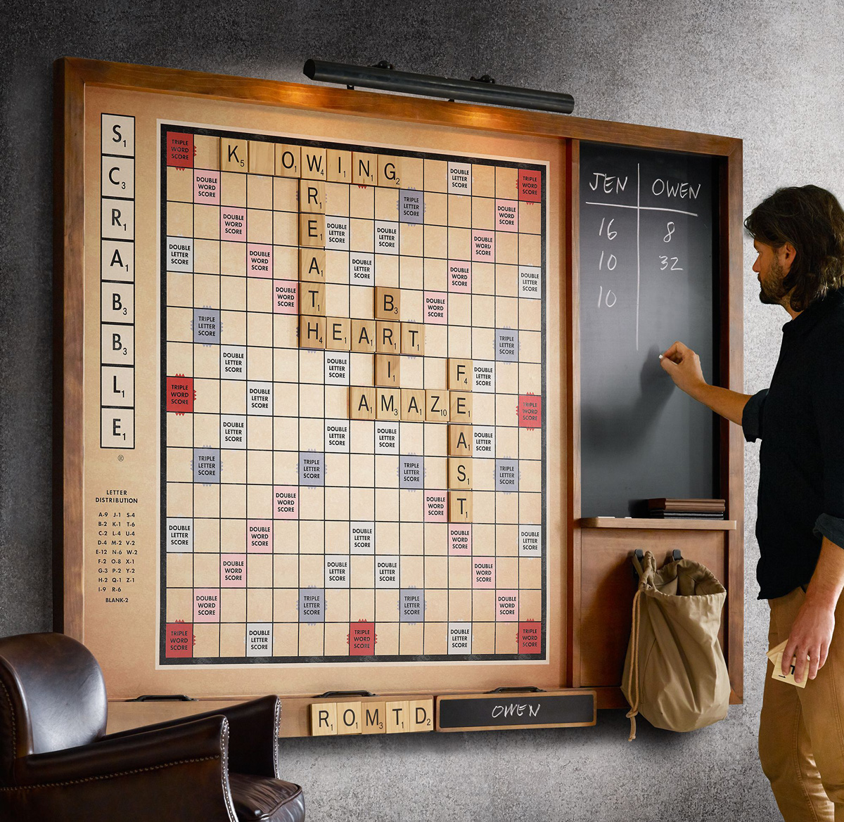 Gigantic Wall Scrabble Game The Green Head