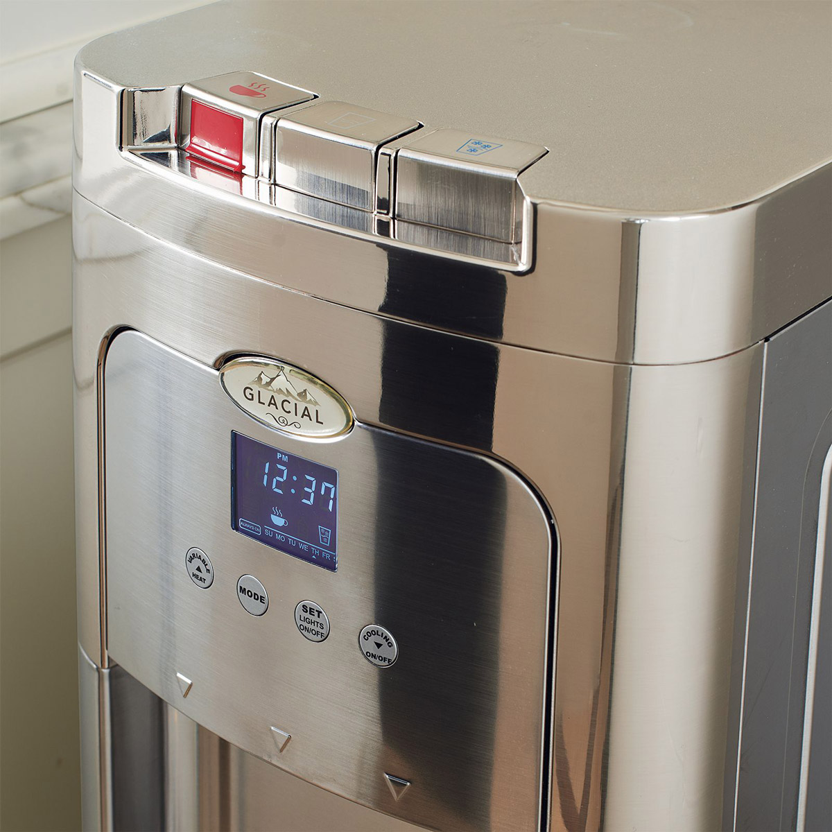 Glacial Maximum Stainless Steel Self Cleaning Bottom Load Watercooler on Sanitizing Toys